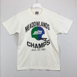 Vtg 1989 JETS vs GIANTS Meadowlands T-Shirt L